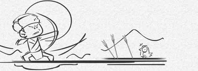古代蒙古女子 手绘